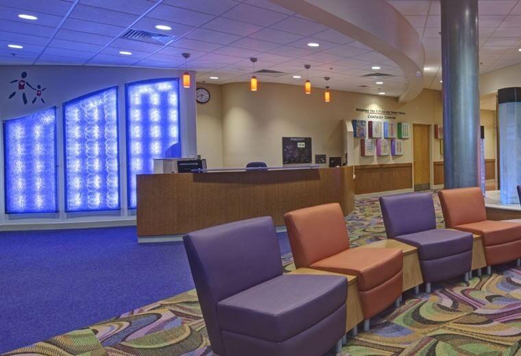 Mount Washington Pediatric Hospital Inpatient Renovation-Ped-Inpatient_interior_main-entry-lobby