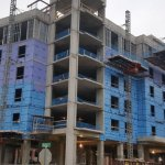 Cambria Hotel College Park, Maryland Full Blue Skin Wrap General Contractor Southern Management Corporation